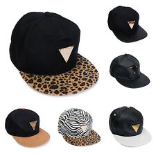 Men Women Leopard Hip Hop Baseball Flat Cap Adjustable Black Snapback Visor Hat