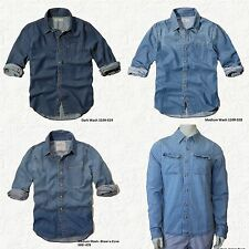 HOLLISTER MEN`S DENIM SHIRT CORONADO ISLAND NEW SIZE S, M, L, XL, by Abercrombie