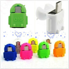 Cute Robot Micro USB Host OTG Adapter Cable for Samsung Galaxy S5 S6 Sony New