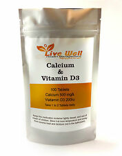Live Well Calcium & Vitamin D3,for strong dense bones. Various pack sizes.