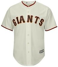 San Francisco Giants Authentic Majestic Cool Base Jersey Cream Big & Tall Sizes