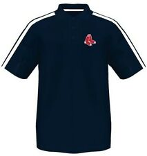 Boston Red Sox Majestic Synthetic Arm Polo Shirt Navy Mens Big & Tall Sizes