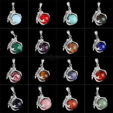 1 Pcs Silver Plated Dragon Claw Wrap Ball Beads Charm Gemstone Pendant Necklaces