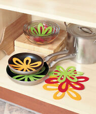 Set of 14 Felt Pan Separators Flower Style 2 Sizes Kitchenware Protectors Gift