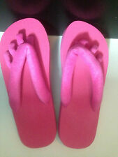 Spa Pedicure / Yoga Flip Flop Terry Sandal - Black or Hot Pink - NEW
