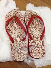 Authentic Tory Burch Size 9 Flip Flop Red Madura Print New