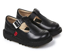 Kickers Kick Lo Aztec Black Leather Infant Junior Kids Back To School  Shoes