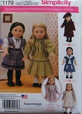 """AMERICAN GIRL 18"""" DOLL CLOTHES PATTERN HISTORICAL SAMANTHA KIRSTEN MOLLY NEW"""