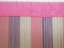 3 TONE PINK WHITE PURPLE FRINGE DOOR WINDOW PARTITION STRING CURTAIN : BRAND NEW