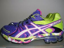NEW ASICS WOMENS GEL-SENDAI Running Shoe SZ 8.5 9 PURPLE/WHITE/SILVER T36DQ 3301