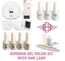LED 12watt lamp nail gel curing start up set kit with Harmony Gelish products
