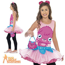 Child Moshi Monsters Poppet Girls Pink Tutu Kids Book Week Fancy Dress Costume