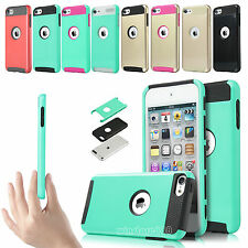 Shockproof Hybrid Soft Rugged Heavy Duty Impact Case For iPod Touch 6th 5th Gen