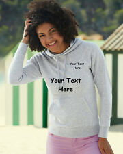 Ladies Lightweight Hoodie Fruit of the loom plain or personalised printed