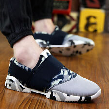 New Mens Breathable Casual Running Sports Flat Canvas Driving Sneakers Shoes B12