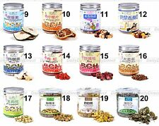 Lots Organic Dried Natural Health Fruit or Floral Herbal Tea in Can - 12 Flavors
