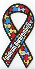 AUTISM AWARENESS RIBBON Vinyl Decal or Car Magnet support find a cure  a123