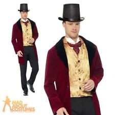 Old Edwardian Gent Costume Adult Mens Victorian Fancy Dress Outfit New