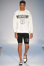 MOSCHINO couture ! white smiley logo sweatshirt