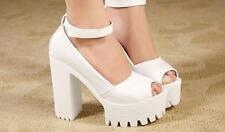 Fashion Women Pumps Platform Strappy Buckle Stiletto High Heels Sandals Shoes