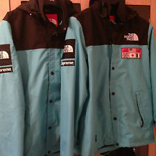 100% Authentic Supreme x North Face SS14 Expedition jacket Teal L PCL CDG LEBAIN