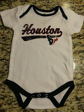 NFL HOUSTON TEXANS BABY CREEPER--WHITE-6-9 &12 MONTH-AUTHENTIC-BRAND NEW