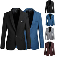 New Stylish Men Casual Slim Fit One Button Suit Dress Blazer Coat Jacket Tops