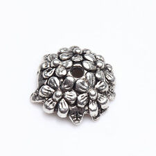 Hot Selling 15/30pcs Tibet Silver Metal Loose Spacer Bead Caps Jewelry Finding