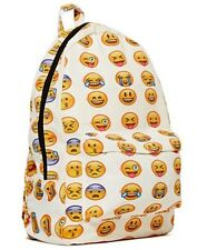 NUOVO SMILEY EMOJI Zaino DIVERTENTE CON EMOTICON PACK SCHOOL SHOULDER BAG Ragazzi Ragazze UK