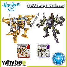 TRANSFORMERS CONSTRUCT A BOTS TRIPLE CHANGER TOYS! BUMBLEBEE & BLITZWING BOTS