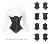 26 Double Steel Boned Waist Training Brocade Underbust Shaper Corset #9933-BRO