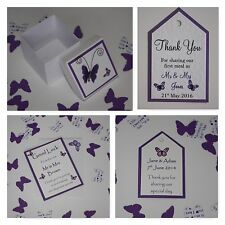 Handmade BUTTERFLY wedding :TAGS & FAVOURS;5 designs, 60 colours, any qty