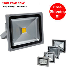 10W 20W 30W LED RGB /  White Flood Spot Light Outdoor Landscape Garden Wall Lamp
