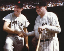 MLB Baseball Red Sox Ted Williams and NY Yankees Babe Ruth Photo Picture