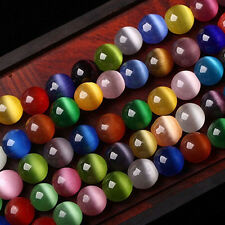 20/50Pc Colorful Cat Eye Gemstone Round Loose Spacer Bead Jewelry Finding 4-10mm