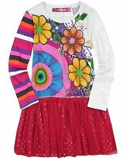 Desigual Girls Dress Luanda Fushia, Sizes 7/8, 9/10, 11/12, 13/14