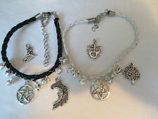 Wicca ~ Hippy ~ surfista Faux Leather Bracelet / anklet.choice DI CHARME E CAMPANELLI