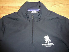 Used Under Armour Men's Freedom Wounded Warrior Project Jacket (M) 1/3 Zip Front