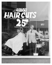 Americana Herrin Illinois Union Barber Shop 25 Cent Haircuts Historical Photo