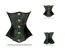 24 Full Double Steel Boned Waist Training Brocade Underbust Corset #8578(BRO)