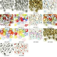 13pcs Acrylic Beads Mixed Letter Alphabet Jewelry Craft DIY Pick