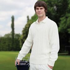 NEW Mens and Youths Finden & Hales Gorgeous Cricket Sweater in White LV132
