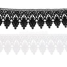 3ya Heart & Leaves Venise Embroidered Lace Trim Ribbon Crafts DIY 12.5 cm wide