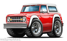 FORD BRONCO BABY! 1966-76 4x4 TRUCK Wall Graphics Decals Stickers Garage Clings