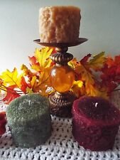 """WOW!!! Grubby Pillar Candles-Full 3x6""""Tall-Your Choice of Color & Fragrance"""