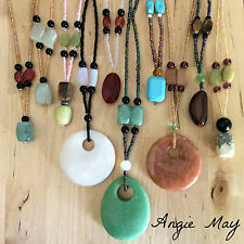 Wholesale Lot Handcrafted Multi Gemstone Pendant Beaded Necklaces 3, 5, 10