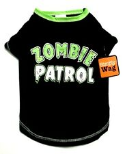 Free Gift New Xs S Black Green Zombie Patrol Dog Shirt Pet Clothes Costume Cat