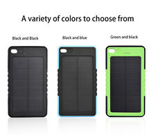 8000mAH Portable Solar Power Bank USB Waterproof Battery Charger For Iphone Sony
