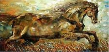 Y037061/Hand-painted thick oil Palette knife Animal HORSE Oil Painting NO Frame