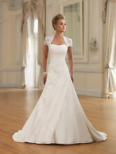 Hot Sale New white/ivory wedding dress custom size 2-4-6-8-10-12-14-16-18-20-22+